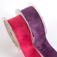 Wired Edge Eleganza Fashion Suede Ribbon