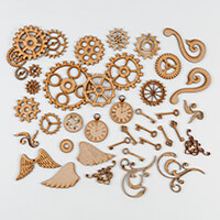 Daisy's Wooden MDF Grab Bag - 40 Pieces-358328