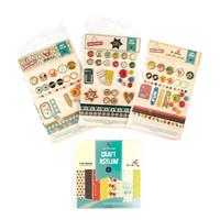 Craft Asylum Papercrafting Set - 104 x Embellishments, 13 x Stamp-359167