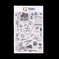 Hobby Art In the Garden A5 Clear Stamp Set - 26 Stamps-360112