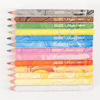 Koh-I-Noor® Set of 12 Jumbo Triangular Coloured MAGIC Pencils-361504