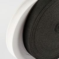 50m of 1inch Elastic   25m Black   25m White-362174