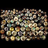 Craft Buddy Set of 100 Assorted Steampunk Glass Cabachons-363563