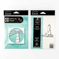 Memory Box 2 x Die Sets - Lighthouse Collage and Oceanside Lighth-364971