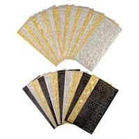 Set of 30 Assorted Peel Offs Sheets - Black, Silver & Gold Collec-365897