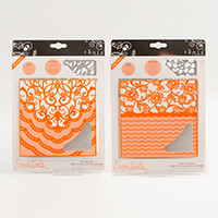 Tonic 2 Idyllic Embossing Folder & Die Sets - Waves & Tiara - 4 D-367861