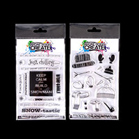 Imagine Design Create Snowtastic & Frosty Snowman A6 Stamp Sets --368965