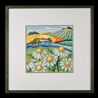 Heritage Daisy Landscape Cross Stitch Kit-369697