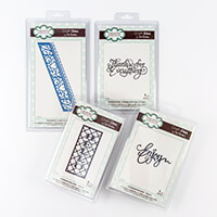 Dies by Sue Wilson 4 Die Sets - Hello, Enjoy, Thanks & Love Heart-372568