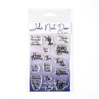 John Next Door Swirl Sentiments Stamp Set - 15 Stamps-372720