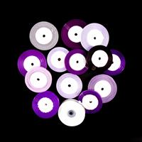 Set of 14 Ribbon Reels - The Purple Collection - Assorted Designs-373067
