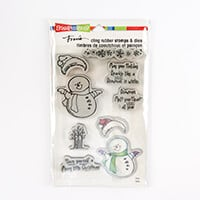 Stampendous Smiling Snowman Stamp and Die Set - 7 Stamps and 2 Di-373360
