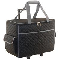 Sewing Online Black Quilted Sewing Machine Trolley Bag-373375