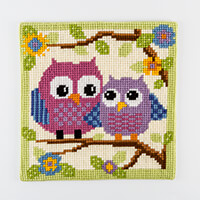Stitch Kits Two Hoots Cross Stitch Cushion Front Kit-374050