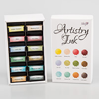 Artistry Ink Mini Ink Pads - Set of 12 with Storage-375358