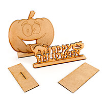 Daisy's MDF Happy Halloween and Pumpkin with Stand-375617