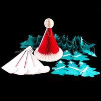 Festive Paper Decoration Set - 6 x Christmas Tree 3m Garlands & 5-375742