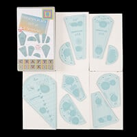 Crafty UK Set of 9 Dresden Templates-375761