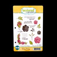 Taylored Expressions Stamp Set - Rosy Posey - 19 Stamps Total-376415