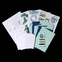 Add Some Sparkle True Blue Paper Embroidery Kit - Makes 8 Cards-378155