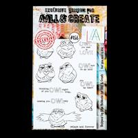AALL & Create A6 Stamp Set - Owl you need is Love - 12 Stamps-378500