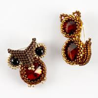 Spellbound Beads Owl & Kitten Brooch Kit-381512