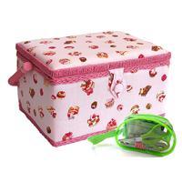 Sewing Online Cake Printed Sewing Basket Pink - Medium with Sewin-383092