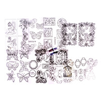 Glitter Magic Acetate Kit - Flutterby - 8 x Acetate Sheets and 4 -385688