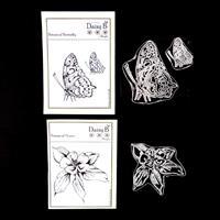 Daisy B Crafts Botanical Flower & Botanical Butterfly Stamp Sets -386914