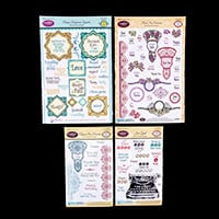 JustRite 4 x Decorative Stamp Sets - 98 Stamps Total-388012