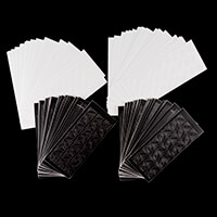 Luv Crafts Set of 96 Peel-Off Stickers - 48 Black & 48 White-390841
