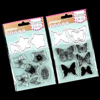 Luv Crafts 2 x Stamp & Die Sets - Flower and Butterfly - 11 Stamp-391571