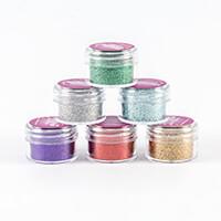Glitter Magic 6 x 20ml Jars of Ultra Fine Glitter - Traditional C-392956