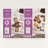 Crafters Companion A6 Rubber Stamp Sets - Spiffy & Steampunk Flor-395300