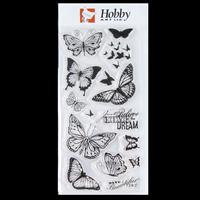 Hobby Art Clear DL Stamp Set - Butterflies Designed by Sharon Fil-396172