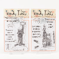 Which Craft? A6 Stamp Sets Wonky Tonk Town - Prayers Go Up & No P-396783