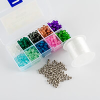 Dizzy Di Etched Bead Bundle - 80 x Spacer Beads, 550 x 6mm Etched-396796