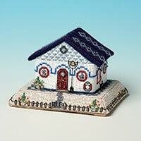 Nutmeg Minature Building 'Seaside Village' Cross Stitch Kit - The-397030