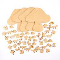 Samantha K MDF Toadstool Plaque Set - 4 x Toadstool Plaques & 50 -398780