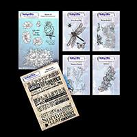 IndigoBlu Pre-Cut Nature Stamp Sets - 2 x A5, 4 x A6 - 24 Stamps -399990
