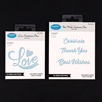JustRite 2 Sentiment Die Sets - Best Wishes & Love - 5 Dies Total-400023