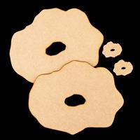 The Glass Hut 4 x MDF Geode Shapes-400502