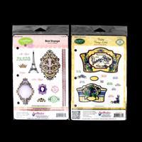 JustRite® 2 x Stamp Sets - Bon Voyage & Violette Labels - 27 Stam-401852