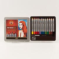 Koh-I-Noor® Set of 12 Assorted Fine Wax Aquarell in Presentation -401928