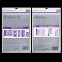 Couture Creations A4 Embossing Folders - 3 Fold Memories & Border-401939