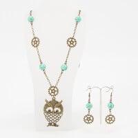 Aldridge Crafts Steampunk Owl Necklace Kit-402107
