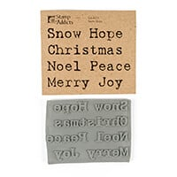 Stamp Addicts Cling Mounted Rubber Stamps - Snow Hope - 7 Sentime-404565