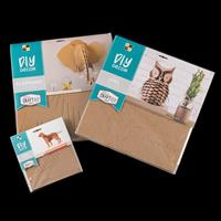 DCWV Set of 3 3D Craft Project - Dog, Owl, Elephant - 3 Projects -405270