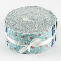 Fabric Freedom Floral Blender Freedom Roll 40x Strips - 100% Cott-405647