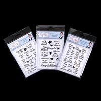 Sentimentally Yours - Set of 3 Chalkboard Essentials Stamp Sets --405926